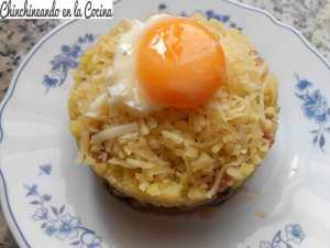 Acelgas rojas con patatas y huevo_