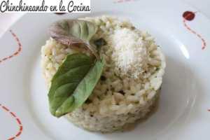 risotto de albahaca
