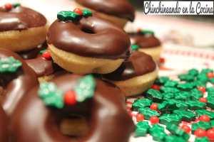 Mini donuts navideños