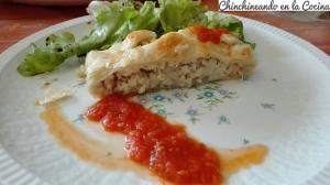Hojaldre de merluza y verduras