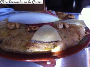Tortilla de endibias con jamón serrano