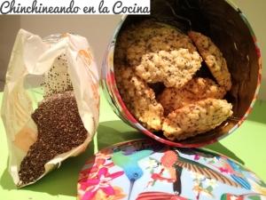 Galletas de avena y semillas de chía