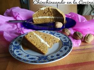 Tarta de calabaza con caramelo y crema de queso